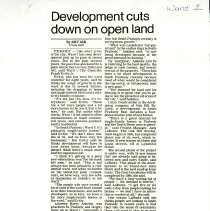 Image of Development Cuts Down on Open Land - Ward 1