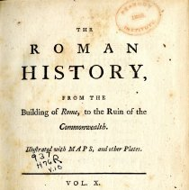 Image of DG 231 .H78 1766 V. 10 - The Roman History from the Building of Rome to the Ruin of the Commonwealth