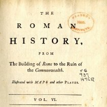 Image of DG 231 .H78 1766 V.6 - The Roman History from the Building of Rome to the Ruin of the Commonwealth