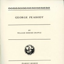 Image of Title Page of Article on George Peabody