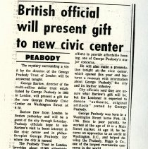 Image of British Official Will Presnt Give to new Civic Center - 1989