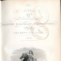Image of Peabody/Sutton Shelf AC 1 L3 Com v.2 - Biographies of John, Duke of Marlborough, Charles Mordaunt, and Major-General James Wolfe.