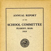 Image of Annual Report of the School Committee - 1919