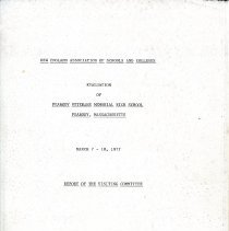 Image of Title Page of a Report on the High School - 1977