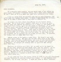 Image of Letter to Mildred - 1933