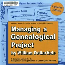 """Image of Title Page for """"Managing a Genealogical Project:"""""""