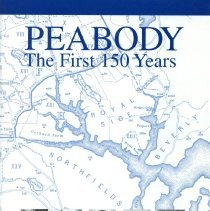 Image of F 74 P3 D68 2000, c 6 - First 150 (sesquicentennial) years of Peabody. This thirty-nine page book provides a brief but concise glimpse into the history and people of Peabody starting when Peabody was a part of Salem until South Danvers, now Peabody, broke away from Danvers in 1855.