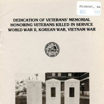 Image of Dedication of the Veternans' Memorial - 1984