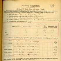 Image of 1903-1904 School Register