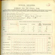 Image of 1904-1905 School Registers