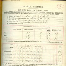 Image of 1905-1906 School Register