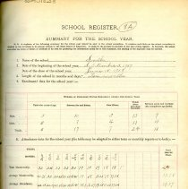 Image of 1907-1908 School Register