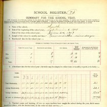 Image of School Register 1908-1909