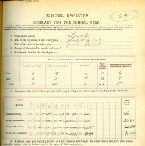 Image of 1909-1910 School Register