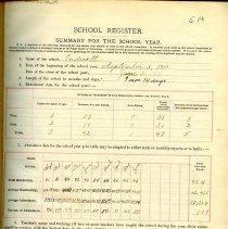 Image of 1910-1911 School Registers