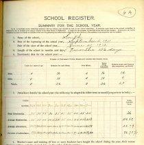 Image of 1911-1912 School Registers