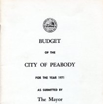 Image of 1971 Budget