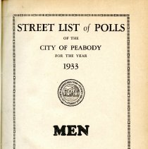 Image of Street List of Polls for 1933 - Men & Women