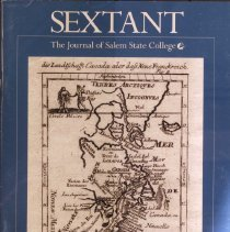 "Image of AS 30 .S49 2006 Vol. 14 no. 1 - Volume 14, no. 1 (Spring 2006) of the journal ""Sextant."" The journal's mission is to ""Combining the learned rigor of an academic journal with the accessible style and format of a general-audience magazine, Sextant presents the research, scholarship, and creative activity of SSU faculty, librarians, staff, and administrators. The faculty-produced, multidisciplinary magazine supports Salem State University's mission ""to provide a high quality, student-centered education that prepares a diverse community of learners to contribute responsibly and creatively to a global society, and serve as a resource to advance the region's cultural, social and economic development.""