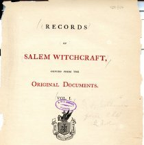 Image of BF 1575 R3 v.1 - As stated in title, original witch trial documents copied for publicaiton.