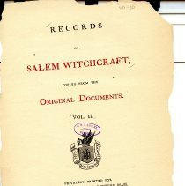 Image of BF 1575 R3 v.2 - As stated in title, original witch trial, from the 1692 outbreak, documents copied for publicaiton.