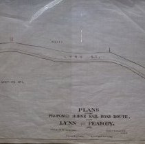 Image of Proposed Horse Rail Road Route - 1939