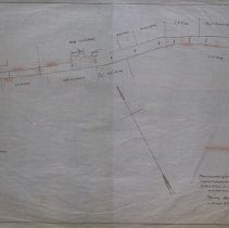Image of Plan of Portion of Lowell Street in Peabody  for Proposed Widening 1928