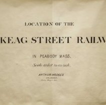 Image of Naumkeag Street Railway Maps, 1885