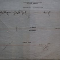 Image of Map of division line between Salem & Peabody 1908