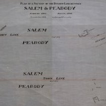 Image of Plan of a Section of the Division Line Between Salem & Peabody