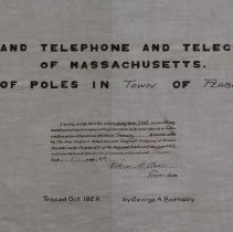 Image of N.E. Telephone & Telegraph Co.  Line of Poles in Peabody