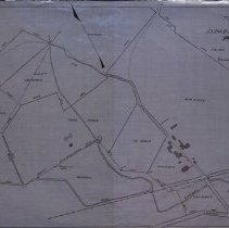 Image of Map of Fram Buildings and Property Lines for Poor Farm - 1915
