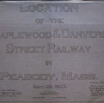 Image of Title page for Maplewood & Danvers Street Railway - 1903