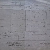 Image of Plan of House Lots on Southern Side of Lowell Street 1913