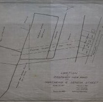 Image of Proposed new road from North End to Seneca Street, 1919