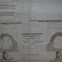 Image of Plan of Concrete Block for Arch