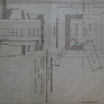 Image of Plan Showing Gate Chamber, A Butment & Profile of Intake Pipe - 1928