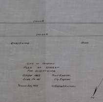 Image of Plan for Englewood Road - October 1923