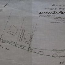 Image of Land to be taken by Peabody in relation to Lynn Street.