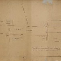 Image of Proposed Extension of Willow Street in Peabody - 1881