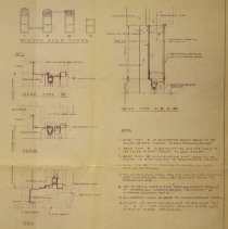Image of Window head types and install notes, City Hall, 1971