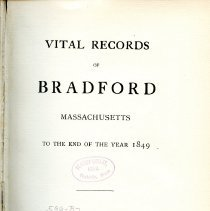 Image of Vital Records of Bradford