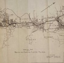 Image of Location map of the Boston & Eastern Electric Railroad, 1907