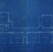 Image of Farnsworth blueprints, first floor plan, 1926
