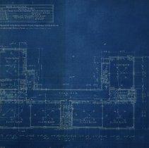 Image of Farnsworth School second floor blueprint - 1926