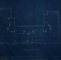 Image of Roof plan for Farnsworth School - 1926