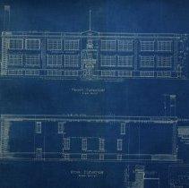 Image of Farnsworth School front & rear elevation - 1926