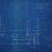 Image of Farnsworth School blueprint basement plan - 1926