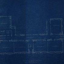 Image of Skelton of first floor plans - Farnsworth School 1926