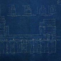 Image of Farnsworth School blueprint first floor framing - 1926
